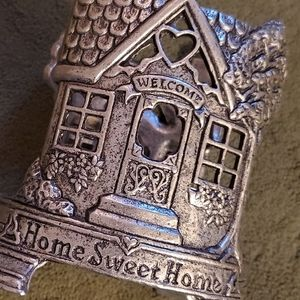 Carson Pewter Home Sweet Home Jar Candle Holder